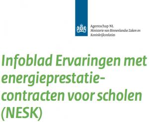 Infoblad Ervaringen met energieprestatiecontracten voor scholen (NESK)